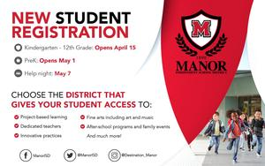 New Student Registration Now Open