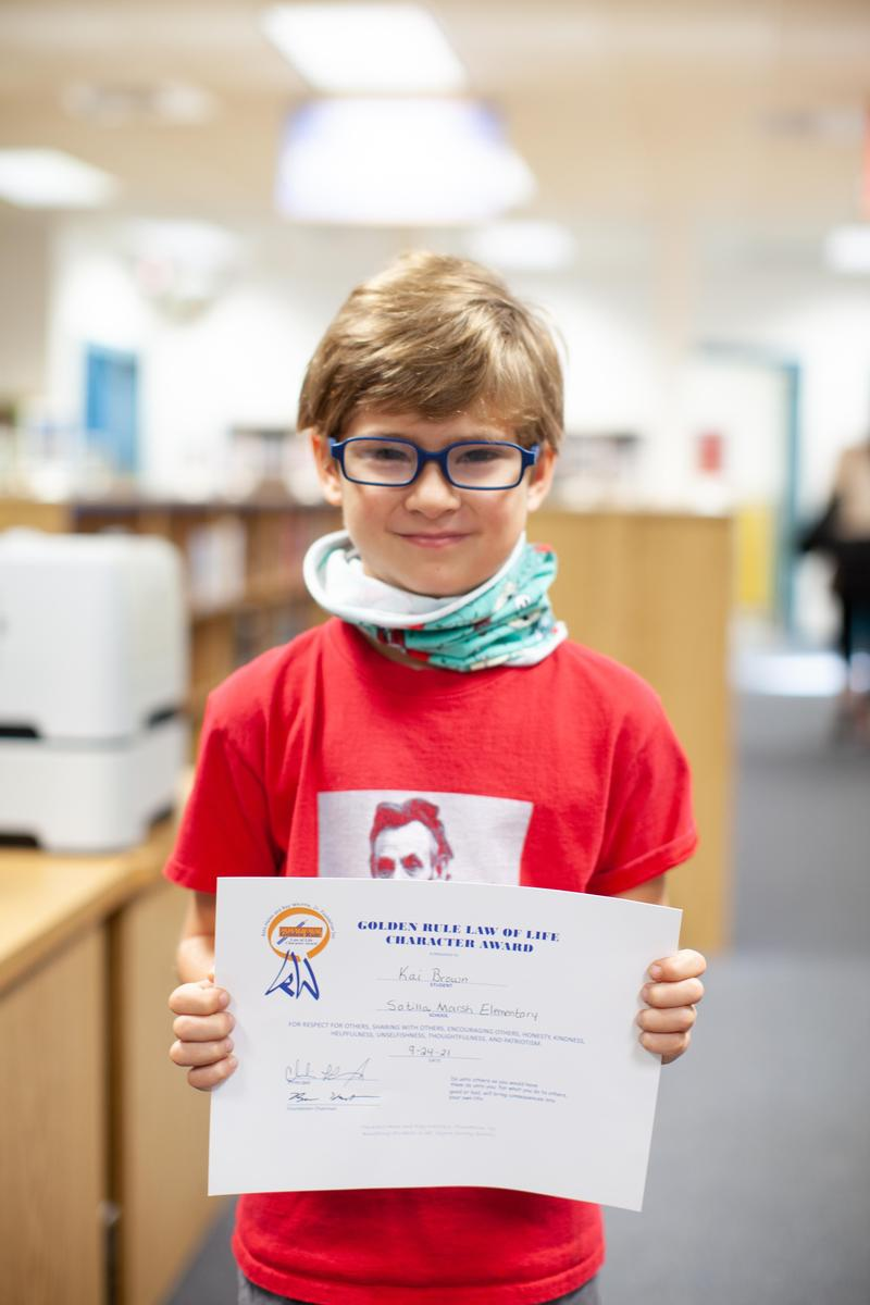 Congratulations to Kai B., SME's Golden Rule Award Winner for September 2021! Featured Photo