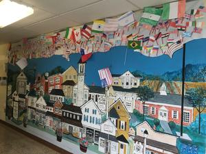 Cranbury's sky filled with flags from around the world