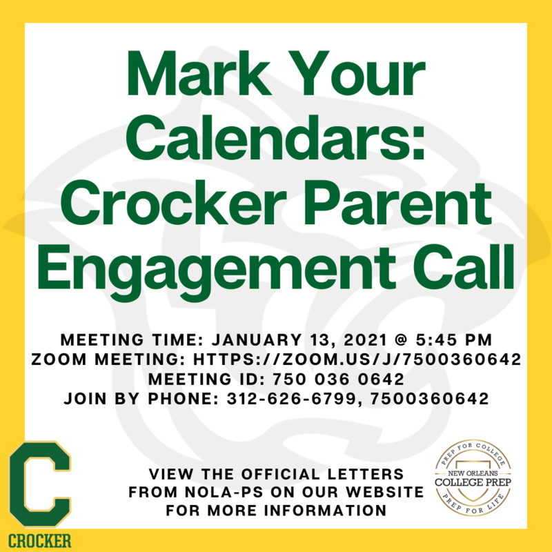 Crocker Parent Engagement Meeting with NOLA-PS Featured Photo