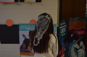 Students dressed for Crazy Hair Day.