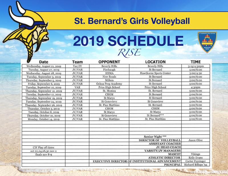 2019 Lady Viking Volleyball Schedule Featured Photo