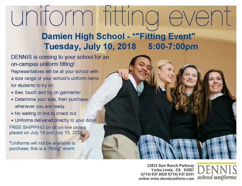 Dennis Uniform Fitting Event Featured Photo