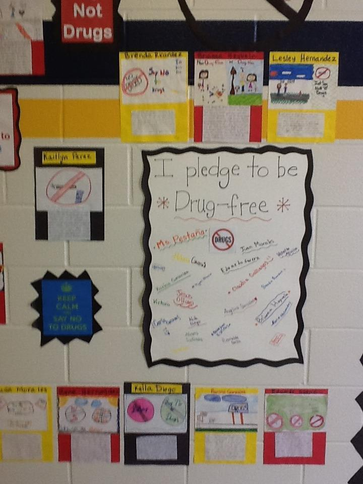 Anchor Chart of saying no to drugs