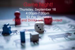 Game Night Details.