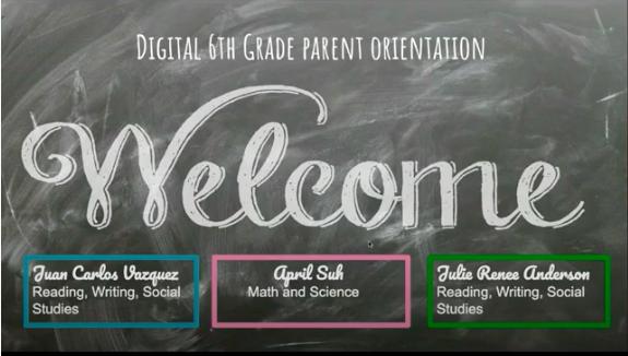 6th Grade Orientation screenshot