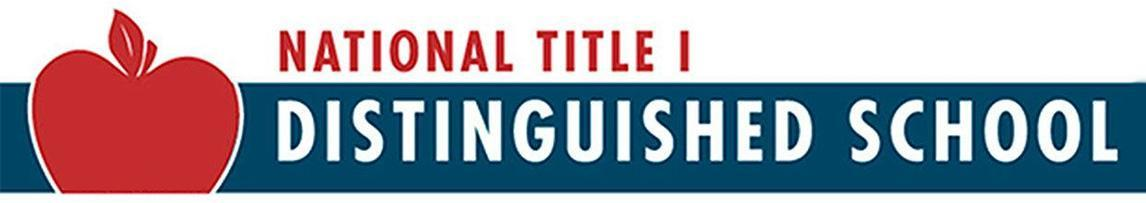 national title 1 distinguished school banner