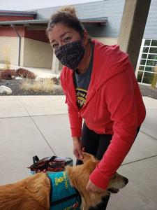 Treats and a visit from Chase the Therapy dog. Thumbnail Image