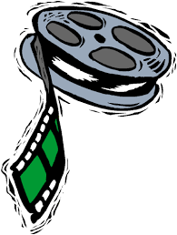 a graphic of a roll of movie film