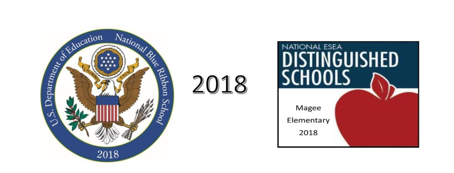 blue ribbon and national distinguished school