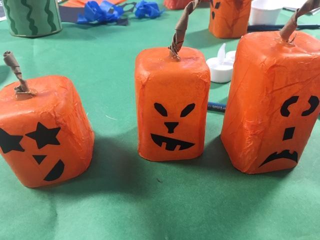 Making Halloween decorations!