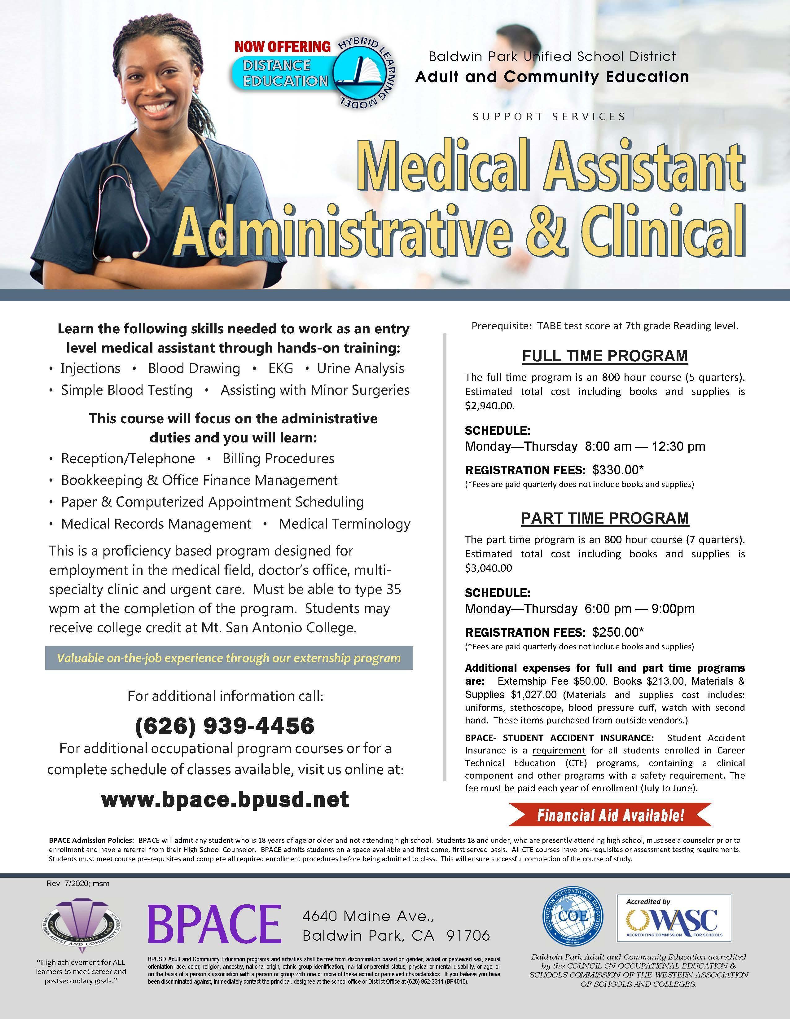 Medical Assistant Class Flyer