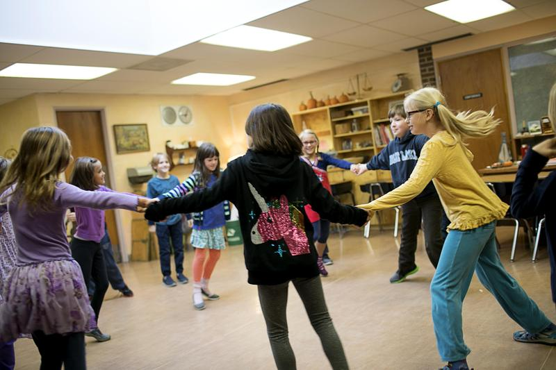 Children moving during lesson
