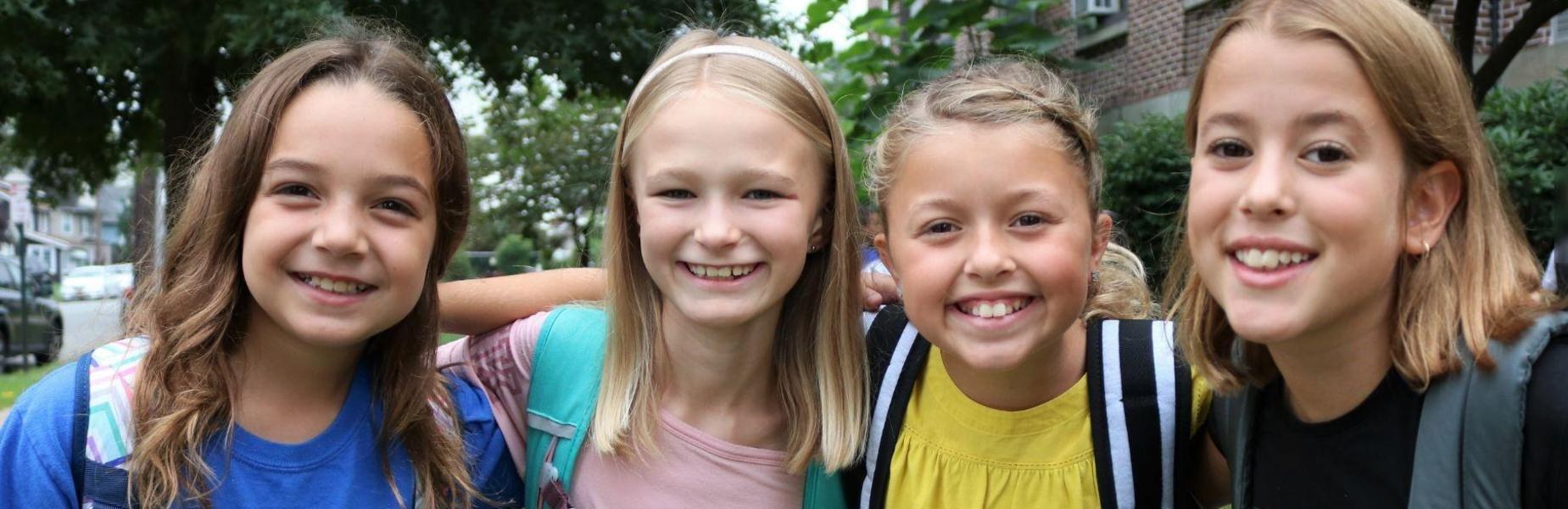 Smiling faces of McKinley students as they return for a new school year.
