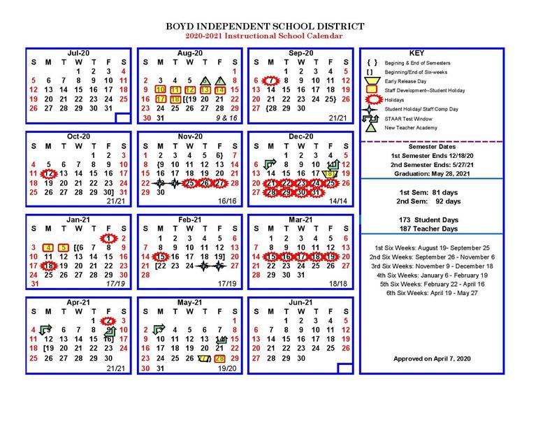 Adopted Calendar 2020/2021 Updated 4/21/20 Thumbnail Image