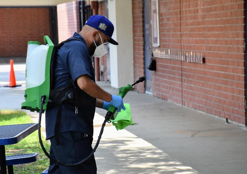Humberto Custodian cleaning