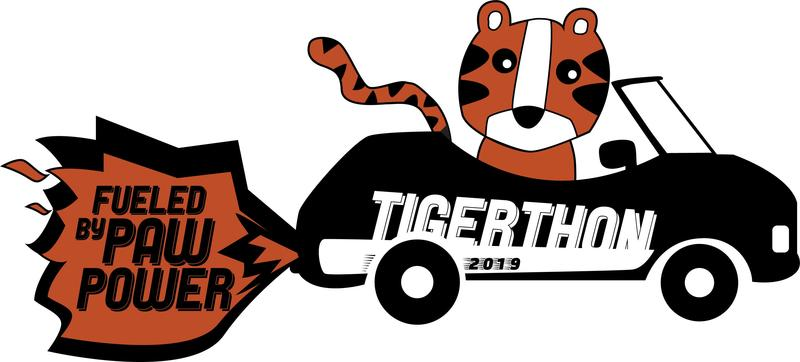 tiger driving a car that says