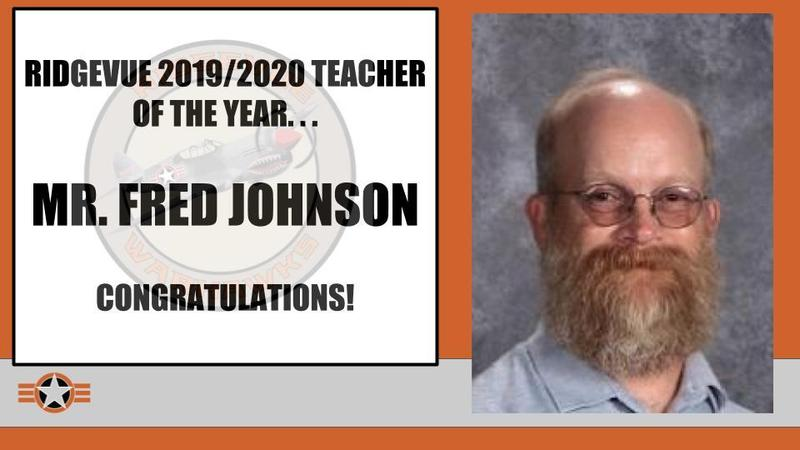 Mr. Fred Johnson RHS Teacher of the Year