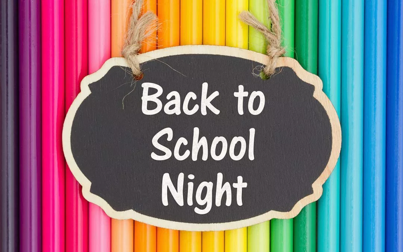 Back To School Night Placard