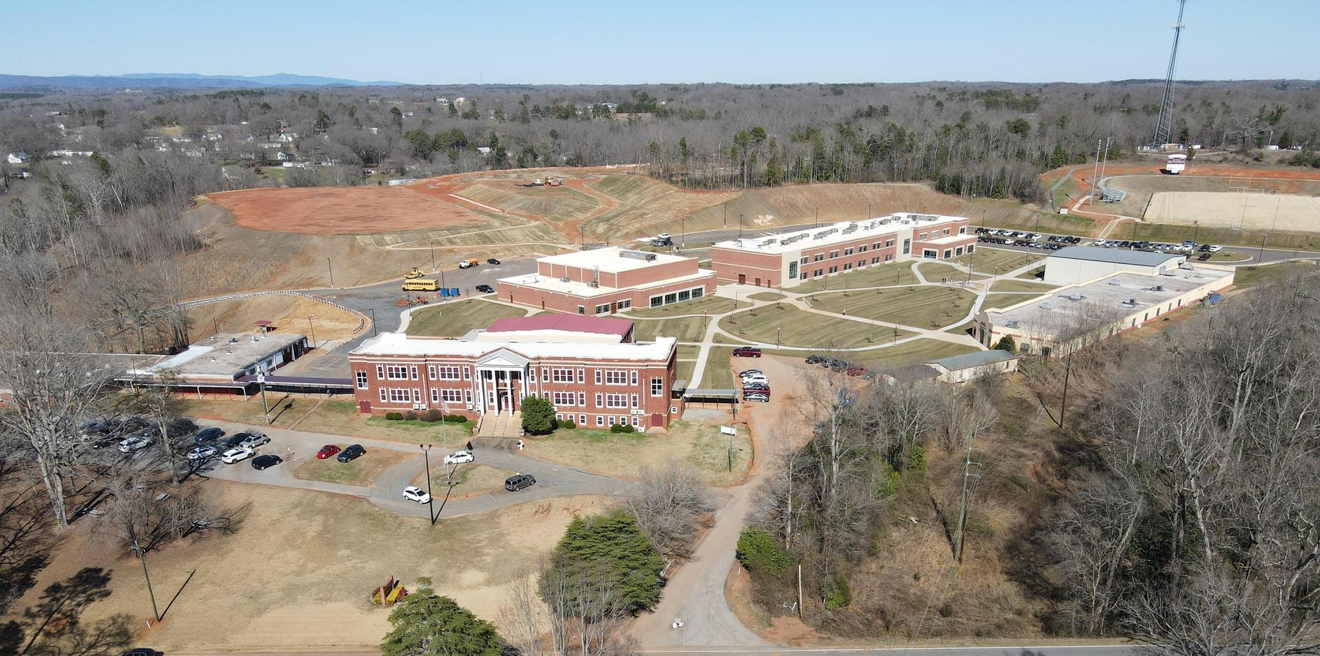 Aerial picture of the upper campus