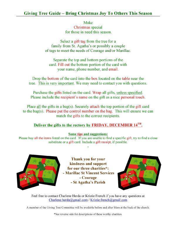 Christmas Giving Tree – Outreach – St  Josaphat Parish