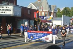 BUHS Band in the Homecoming Parade.