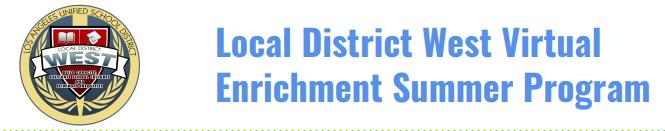 Local District West Virtual Enrichment Summer Program Thumbnail Image