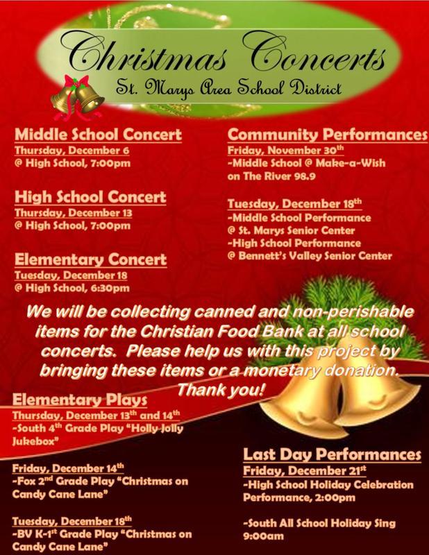 SMASD Music Department- Concert Schedule Thumbnail Image