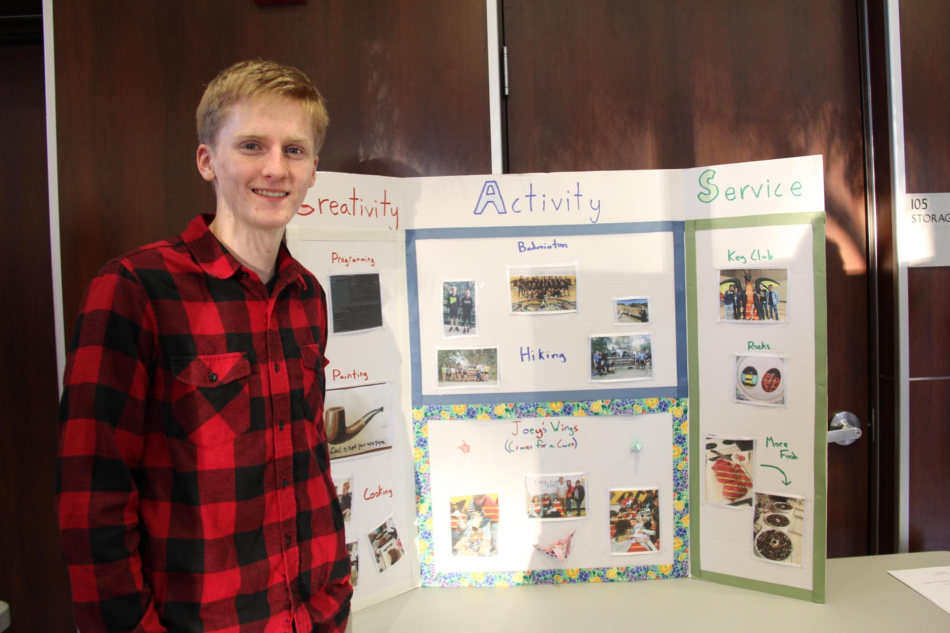 Image of IB Student - Connor - showcasing his Creativity, Activity & Service experiences