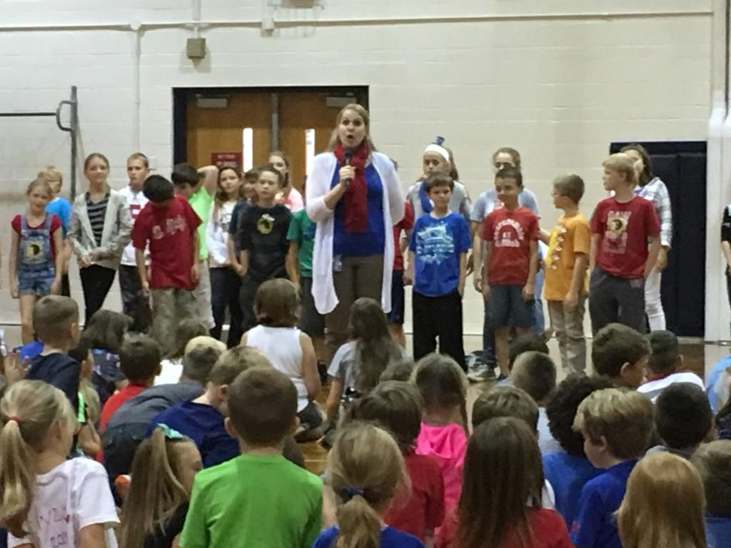 Patriotic songs for Mr. Maupin's visit