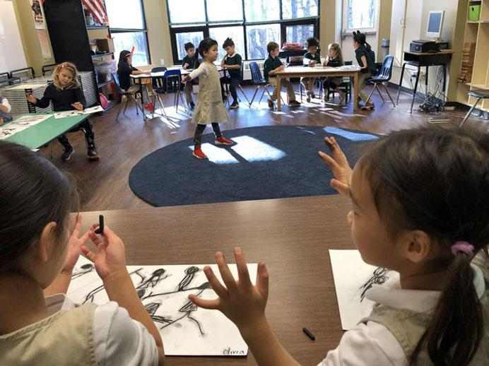 Observational drawing unit at HudsonWay Immersion School