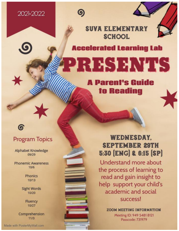 ALL Parent Guide to Reading English FLYER