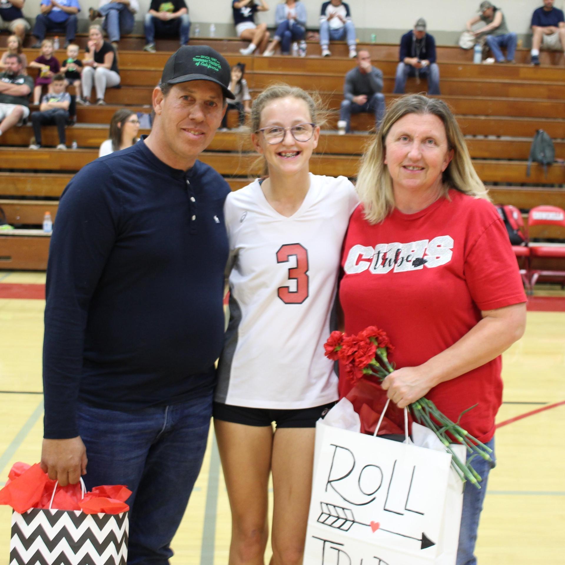 Lauren Bass with family