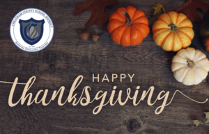 The district will be closed Nov. 27-29 for Thanksgiving.