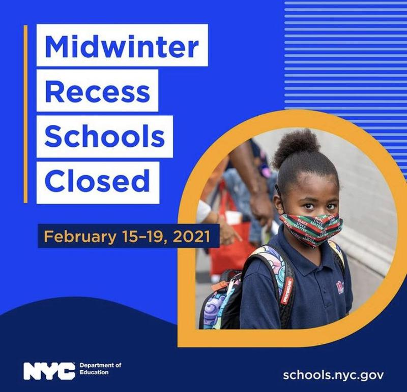 Midwinter Recess-Schools Closed-February 15-19, 2021 Featured Photo