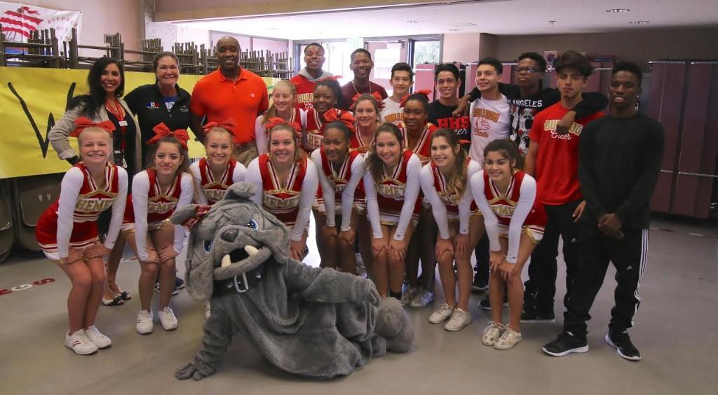 Hemet High School Cheer helped us kick off our 100 Mile Club!