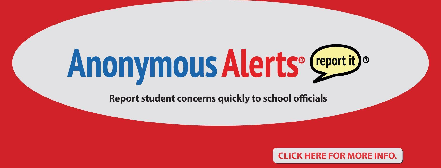 Anonymous Alerts Report Students Concerns Banner