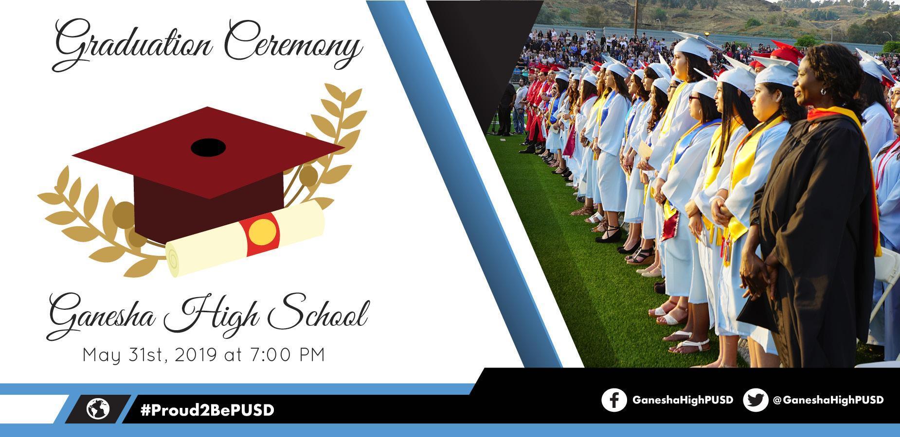 Ganesha High School: May 31st, 2019 at 7:00 pm