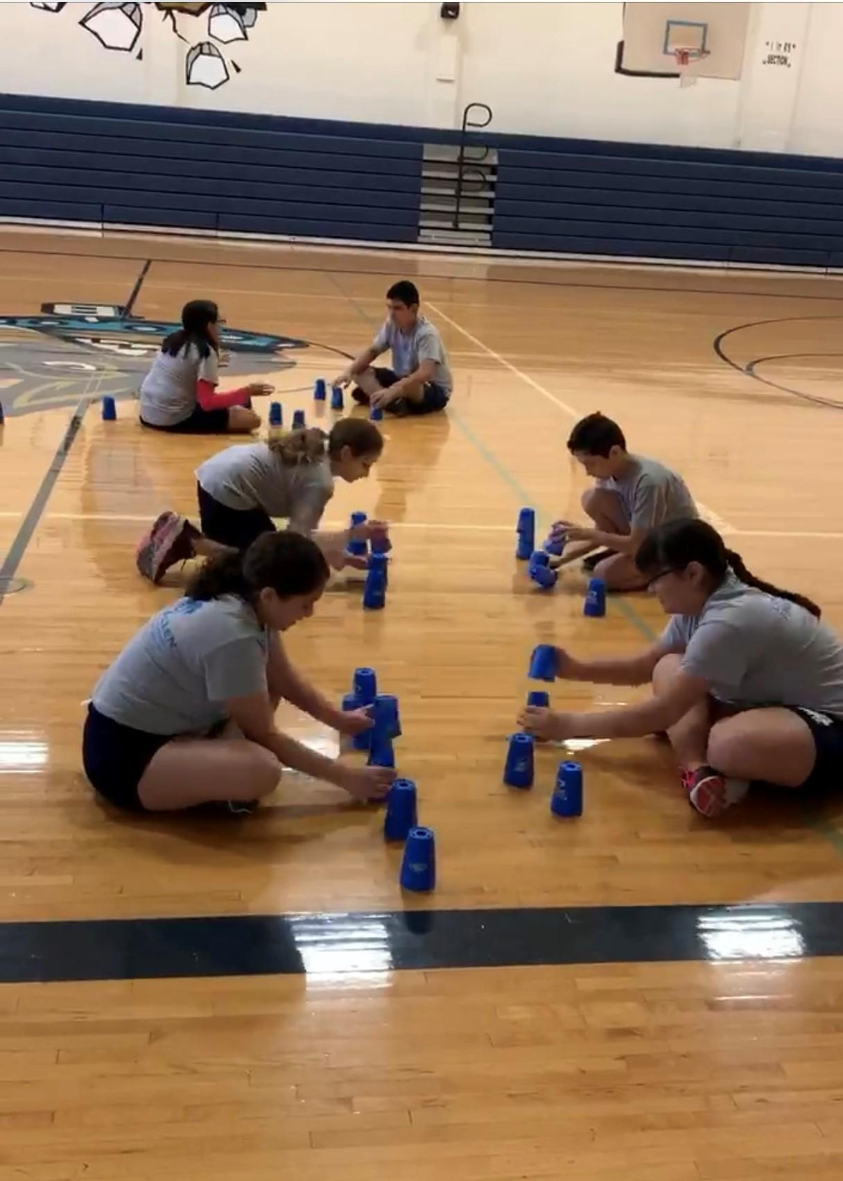 Brown Middle School cupstacking