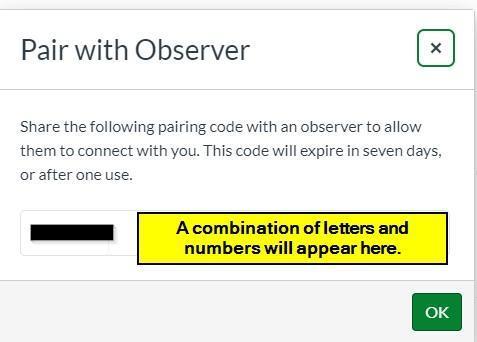 Canvas Pairing Code