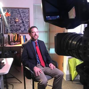 Bill Olinger during the interview