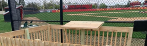 Rocks Baseball announcers stand