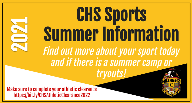 Summer athletic info