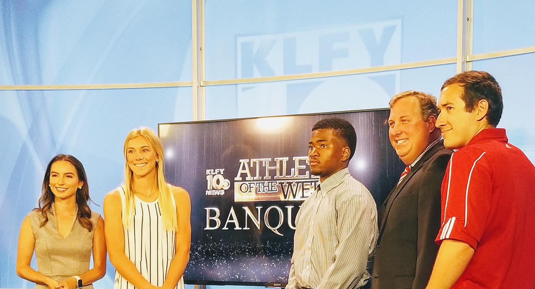 Adrain Eaglin was featured on KLFY as Athlete of the year.  He recieved a $1,000.00 Scholarship from Coca Cola.