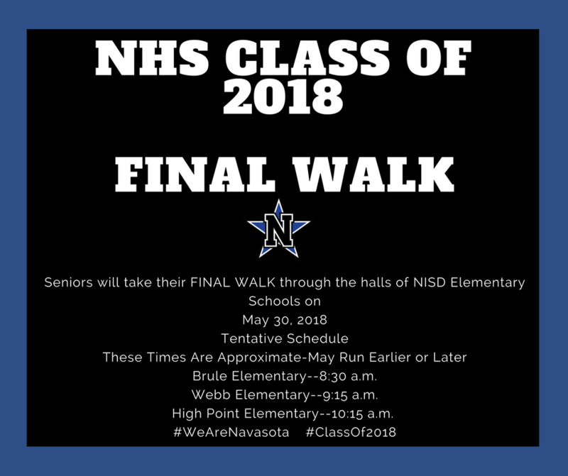 NHS SENIORS TAKE FINAL WALK Featured Photo