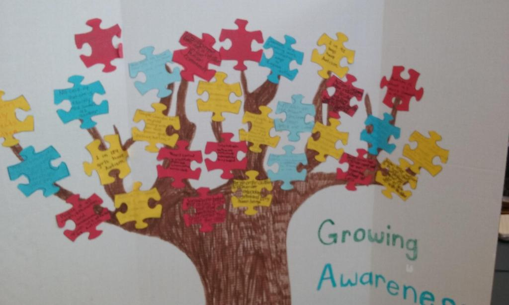 Growing Awareness poster on Autism