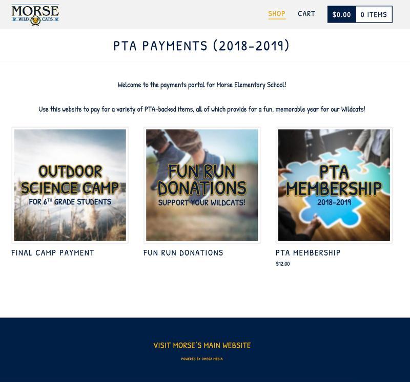 Morse PTA Payments Portal