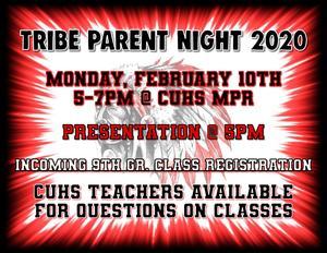 Tribe Parent Night Flyer