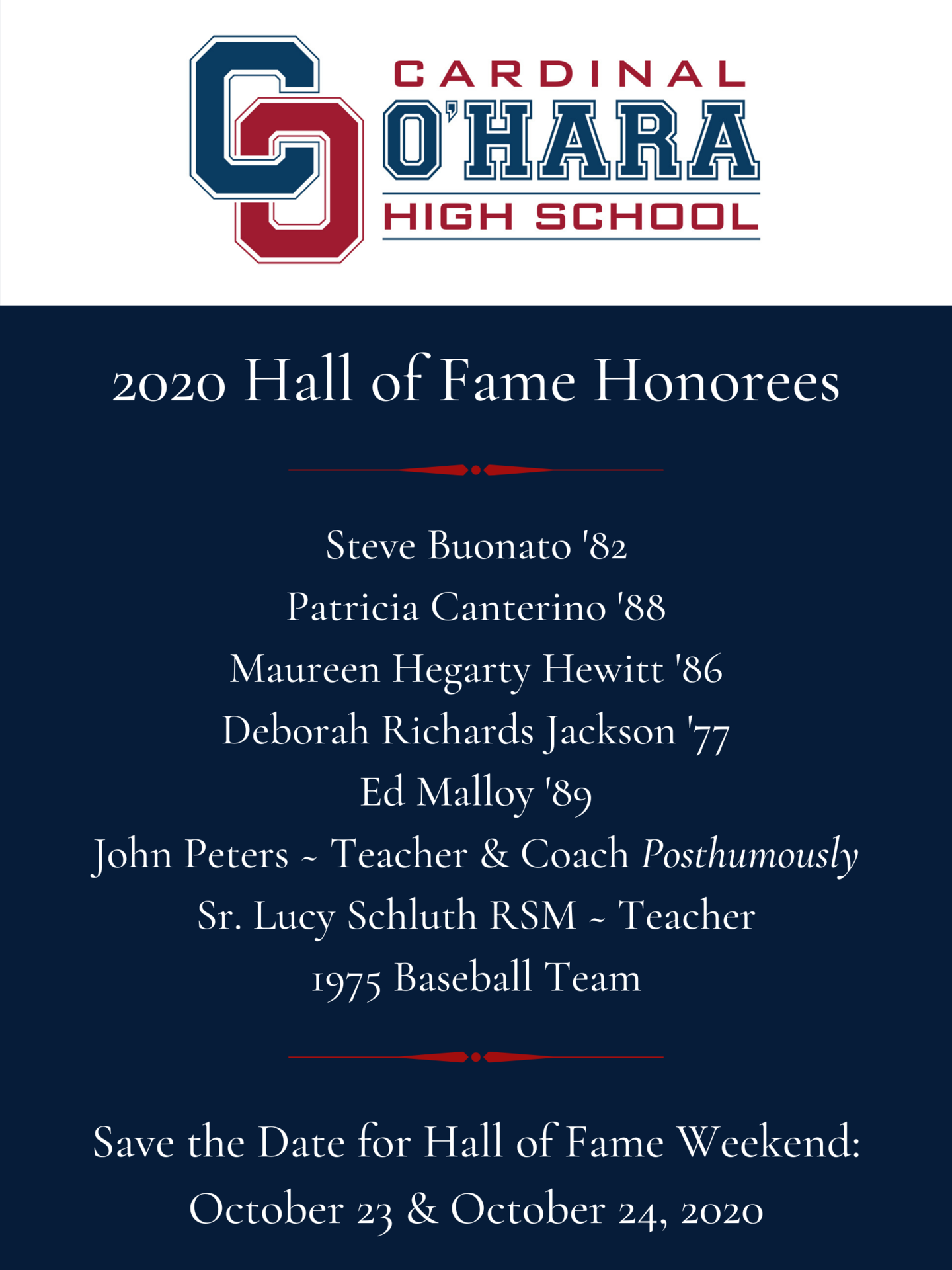 COHS 2020 Hall of Fame