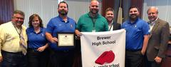 Brewer High School earned the National Athletic Trainers' Association (NATA) Safe Sports School Award for its Sports Medicine Department.